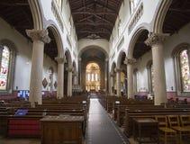 Innen-St- Mary und Sankt- Nikolaus` Kirche Wilton Stockbild