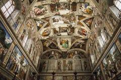 Innen- und Architekturdetails der Sistine-Kapelle Stockbilder