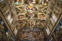 Innen- und Architekturdetails der Sistine-Kapelle Lizenzfreie Stockbilder