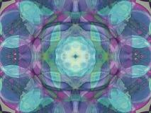 Innenanordnung in Blauem und in violettem lizenzfreies stockfoto