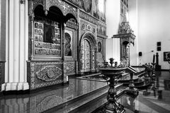 Innenansicht der Annahme-Kathedrale in Yaroslavl, Russland Stockfotografie