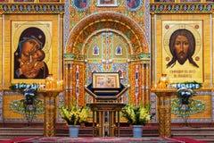 Innenansicht der Annahme-Kathedrale in Yaroslavl, Russland Stockfoto