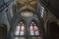 Innenansicht der Kathedrale in Avila Lizenzfreies Stockfoto