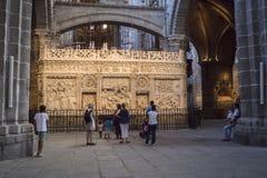 Innenansicht der Kathedrale in Avila Lizenzfreie Stockbilder
