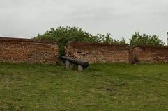 Innenansicht der mittelalterlichen Festung Baba Vida bei der Donau in Vidin-Stadt stockfotografie