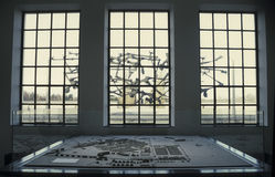 Innenansicht des Dachau-Konzentrationslagerdenkmals Lizenzfreie Stockbilder