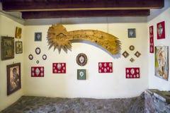 Innenansicht des der Abtei Sacradi San Michele-Heilig Michaels Stockbild