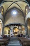 Innenansicht des der Abtei Sacradi San Michele-Heilig Michaels Lizenzfreies Stockfoto