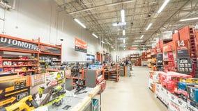 Innenansicht eines Einzelhandelsgeschäftes Home Depots Lizenzfreie Stockbilder