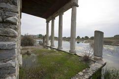 Innenansicht von Apollon Temple in alter Stadt Miletus, die Türkei stockfotografie