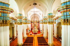 Innenansicht von De Potosi Catedral de la Ciudad lizenzfreie stockfotos