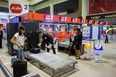 Innenansicht von Don Mueang International Airport Lizenzfreie Stockfotos