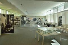 Innenansicht von Erich Maria Remarque Friedenszentrum Museum in Osnabrück Stockfotos