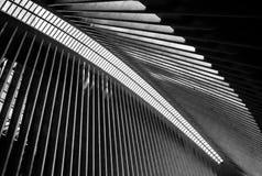 Innenansicht von ihm beträchtliche roofline Struktur des Einkaufszentrums am Bodennullpunkt, New York City Lizenzfreie Stockfotografie