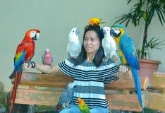 Innenansicht von Kuala Lumpur Bird Park, Malaysia Stockfotos