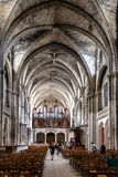 Innenansicht von St. Andrew Cathedral im Bordeaux stockfoto