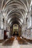 Innenansicht von St. Andrew Cathedral im Bordeaux lizenzfreies stockfoto