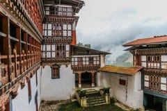 Innenansicht von Trongsa Dzong, einer des ältesten Dzongs in Bumthang, Bhutan Lizenzfreie Stockbilder