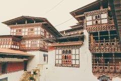Innenansicht von Trongsa Dzong, einer des ältesten Dzongs in Bumthang, Bhutan, Asien Lizenzfreie Stockfotografie