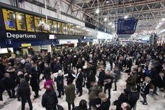 Innenansicht von Waterloo-Station Stockfotografie