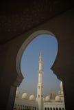 Innenansicht zu Sheikh Zayed Mosque, Abu Dhabi, UAE Lizenzfreies Stockbild