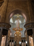 Innenansicht zu Sheikh Zayed Mosque, Abu Dhabi, UAE Lizenzfreie Stockfotografie