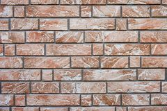 Innenarchitektur der braunen weißen Wand der Ziegelsteine Stockfotografie