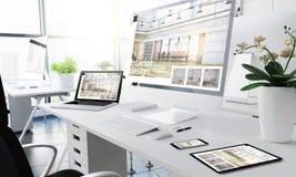 Innenarchitektur der entgegenkommenden Geräte des Büros lizenzfreies stockbild