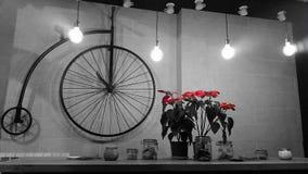 Innenarchitektur des Retro- Fahrrades Stockfoto