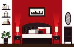 Innenarchitektur des Zweibettzimmers Lizenzfreies Stockfoto