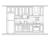 Innenarchitektur, Küche Lizenzfreie Stockfotos