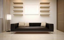 GroBartig Modernes Wohnzimmer Lizenzfreies Stockbild