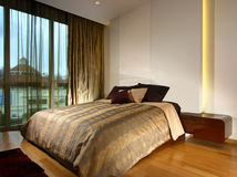 Innenarchitektur - Schlafzimmer lizenzfreies stockbild
