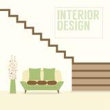 Innenarchitektur-Treppe mit Sofa Lizenzfreie Stockfotos