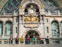 Innenarchitektur von Antwerpen-Bahnstation Lizenzfreie Stockfotografie