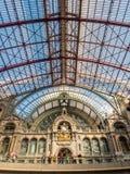 Innenarchitektur von Antwerpen-Bahnstation Stockbild