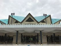 Innenaufnahme der nationalen Moschee von Malaysiaï-¼ Œis eine Moschee in Kuala Lumpur, Malaysia stockfotos