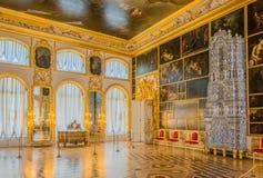 Innenausstattung Catherine Palace, Tsarskoye Selo, Russland in Tsarskoe Selo der Alexander-Garten lizenzfreie stockfotografie