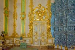 Innenausstattung Catherine Palace, Tsarskoye Selo, Russland in Tsarskoe Selo der Alexander-Garten stockbilder