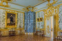 Innenausstattung Catherine Palace, Tsarskoye Selo, Russland in Tsarskoe Selo der Alexander-Garten stockfotografie