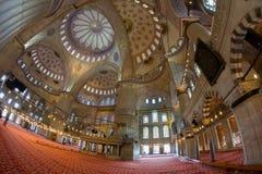 Innenausstattung der blauen Moschee Sultanahmet-Moschee lizenzfreie stockfotografie