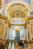 Innenausstattung von Kathedrale St. Isaacs, St Petersburg, Russland lizenzfreie stockfotografie