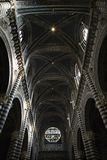 Innendecke der Kathedrale von Siena. stockfotos