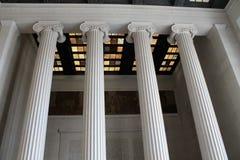 Innendecke und Spalten Lincoln Memorial Stockfotos