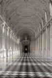 Innengalerie des königlichen Palastes von Venaria Reale in Piemont, U Stockbilder