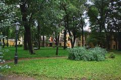 Innenhof von Bobrinsky& x27; s-Palast in St Petersburg, Russland Lizenzfreie Stockfotos