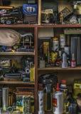 Innenkasten mit Los Gegenständen Stockfoto