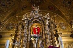 Innenkirche von Tabuyo Del Monte Lizenzfreie Stockbilder