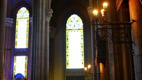 Innenkirchenlichtfenster stock video footage