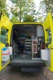 Innenkrankenwagen für Tiere Stockfotos